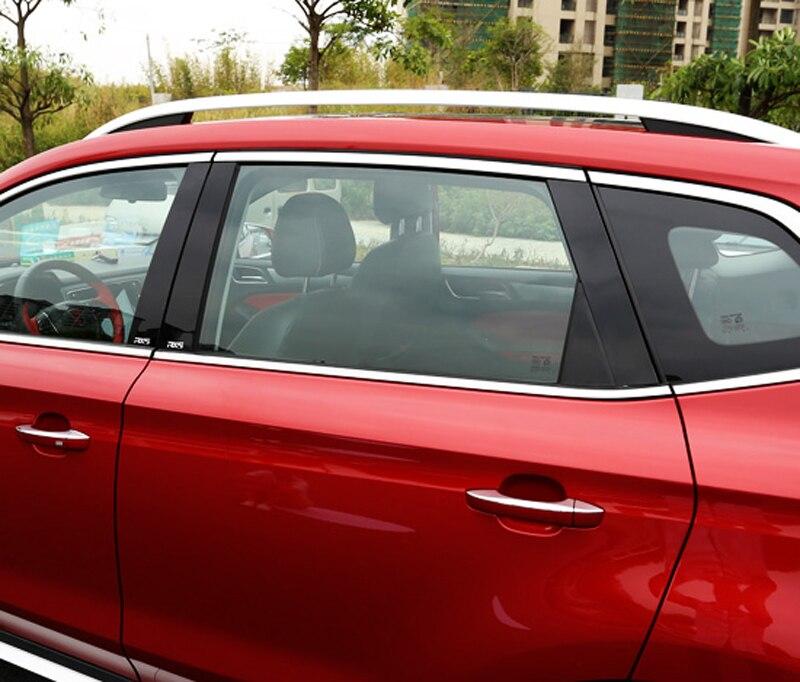 8 stücke Schwarz spiegel pc für Roewe RX5 Fenster trim Zentrale B C spalte Dekoration aufkleber-in Chrom-Styling aus Kraftfahrzeuge und Motorräder bei title=