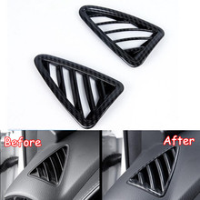 YAQUICKA Car Front Dashboard Upper AC Air Outlet Vent Cover Frame Trim Styling For Mazda CX-3 CX3 2016 2017 2018 ABS Accessories