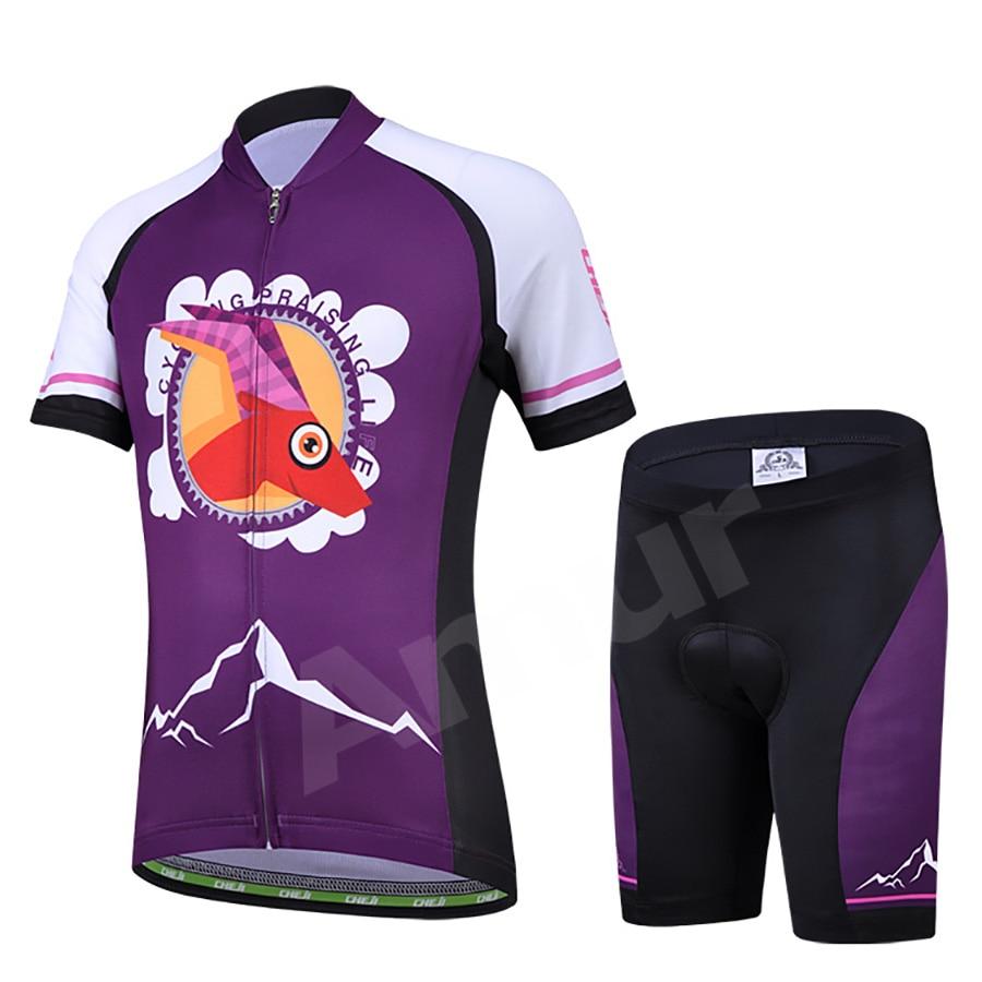 Amur Leopard Children's Cycling Jersey Sets T-Shirt and Shorts MTB Bike Road Bicycle Clothing Kids Girls Riding Ropa Ciclismo полотенцесушитель milardo amur amusm10m49