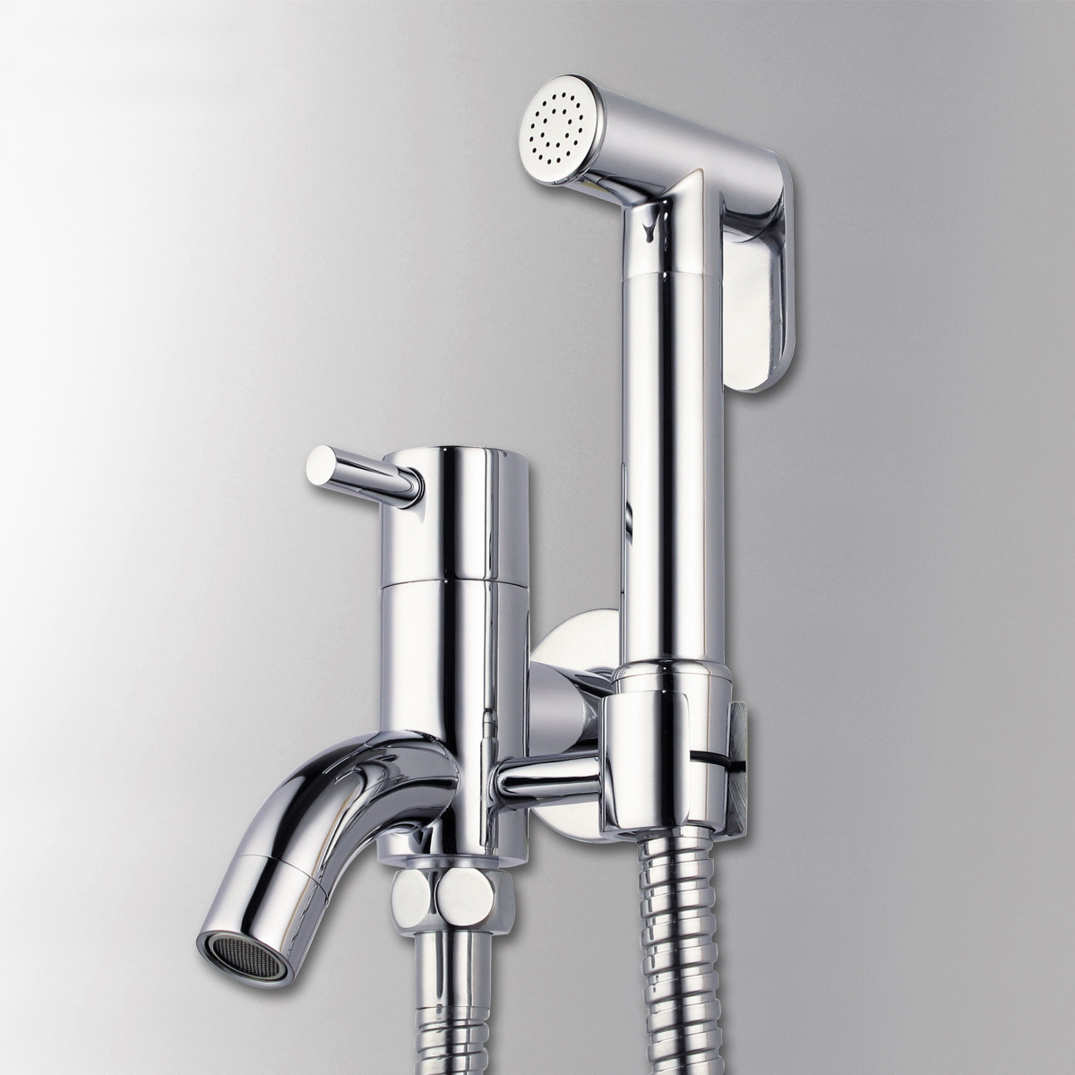 brass toilet bibcock protable hand held bidet shower spray. Black Bedroom Furniture Sets. Home Design Ideas