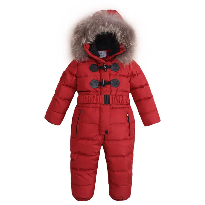 Baby Boys Girls Jumpsuits Winter Overalls Children White Duck Down Rompers Kids Snowsuit Warm Down Jacket Outdoor Outfits russia winter baby grils boys down thick rompers children wadded jacket kids cotton padded fleece fur jumpsuits newborn overalls