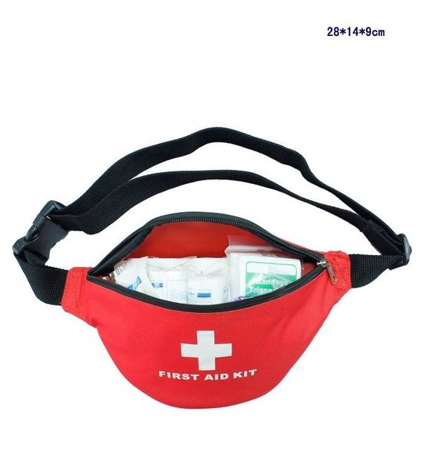 37pcs/Set Safe Outdoor Fanny Pack Wilderness Survival Travel First Aid Kit  Camping Hiking Medical Emergency Kits FAK-S03