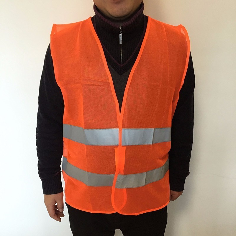 Car vest 1pcs-10pcs Plus Size L-3XL Reflective Vest Working Clothes Provides High Visibility Day Night For Warning Safety vest