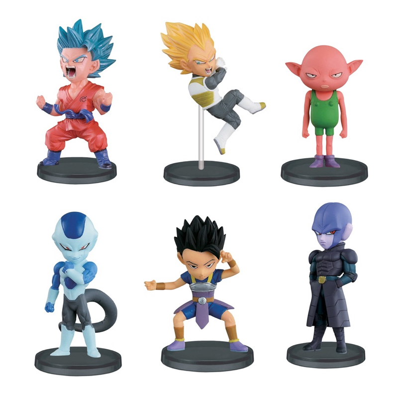 Dragon Ball Super Z WCF World Collectable Figure BATTLE OF SAIYANS Vol.4 Full Set 100% Original original banpresto world collectable figure wcf the historical characters vol 3 full set of 6 pieces from dragon ball z
