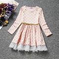 2016 de La Moda de Manga Completa Niñas Precioso Vestido de Princesa Niños Vestidos de Ropa de Los Niños El Envío Libre