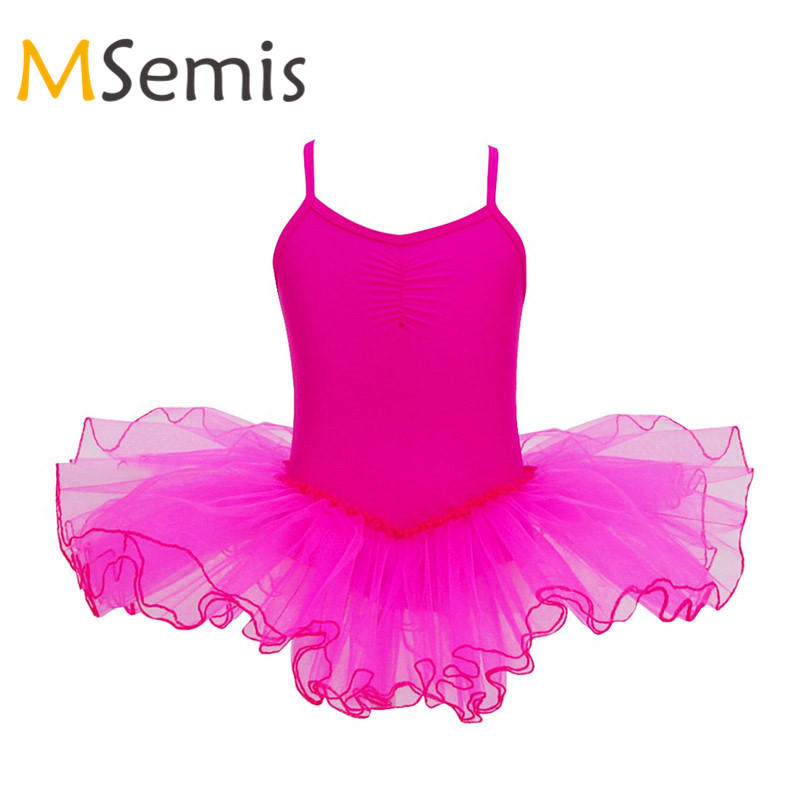 Kids Girls Gymnastic Swimsuit For Girls Ballet Dress Ballerina Princess Tutu Ballet Dress Leotard Gymnastics Leotard For Girls