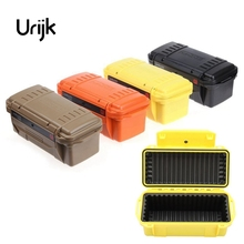 цена на Urijk Outdoor Shockproof Waterproof Safety Boxes Survival Airtight Case Holder Storage Matches Tools Equipment Dry Box