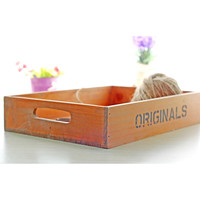 Vintage Retro Wood Tray Storage Box Wooden Boxes Plant Flower Pot Tray Wooden Storage Box Sundries Organizer Wood Fruit Tray