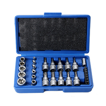 29PC Torx Socket Set of Tool Female Male Torx E & T Sockets Kit in a Case Mechanics Enginner Repair Tools set of sockets matrix 13557