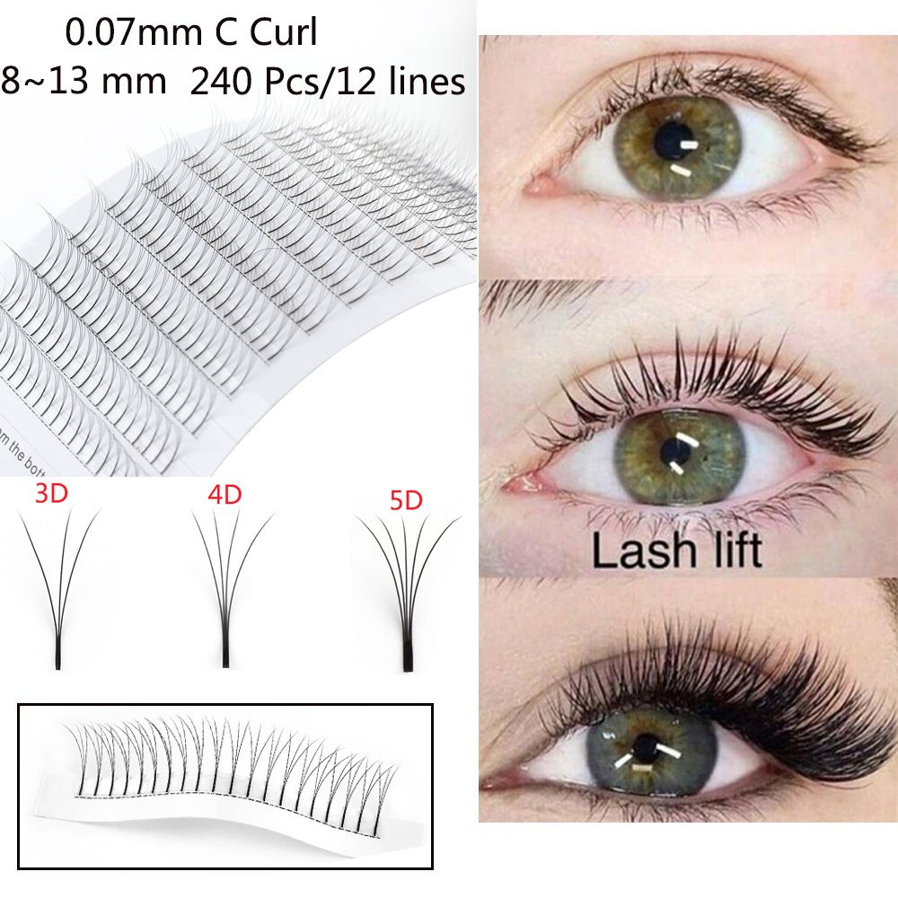 e85d16f7e88 240 Pcs/Set 0.07C 3D/4D/5D Wave Volume Mink Hair Individual Lashes Extension