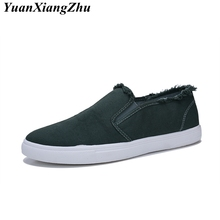 2018 New Arrival Spring Summer Men Canvas Shoes Breathable Casual Vulcanized Slip-On Flats For Zapatos