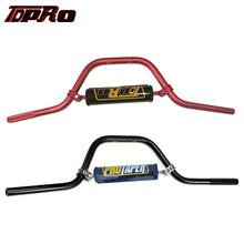 TDPRO 7/8 22mm Motorcycle Handlebar CNC Handle Round Bar Pad For 110cc 125cc 140cc Pit Dirt Bike CRF70 CRF50 XR50 KLX110 TTR50