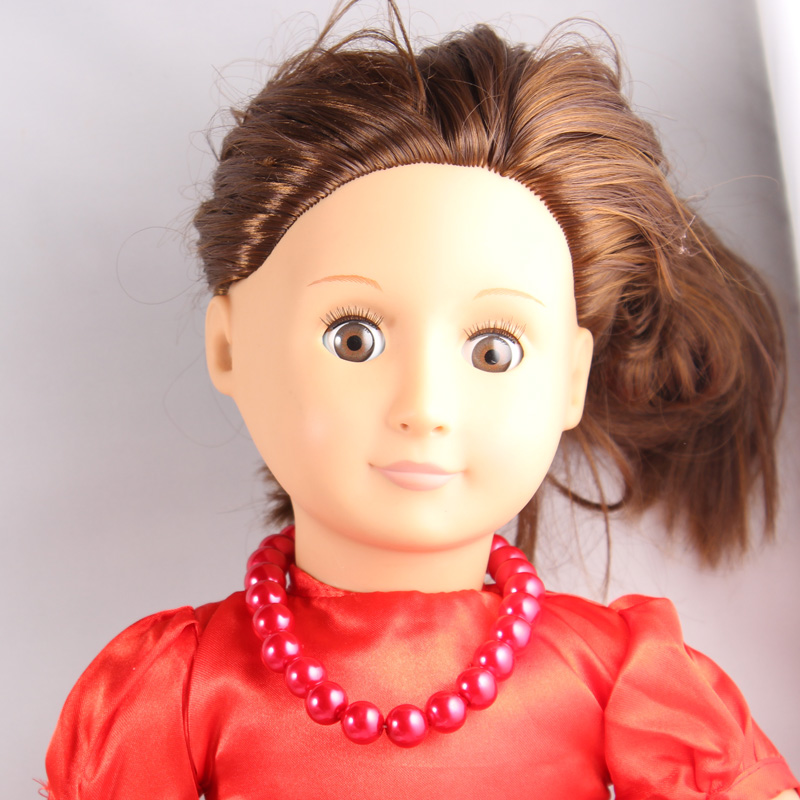 Baby Born Doll Accessories Red Pearl Necklaces Decorations For 18 inch American Girl doll Accessories AN09