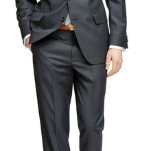 7bd3fadace6365 Linyixun Mens Pinstripe Suit Custom Made Charcoal Grey Mens Striped Suit,Tailored  Single Breasted Pin