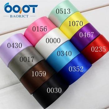 Accesorio para el pelo hecho a mano ooot baorjct 174279, alta calidad 10 yardas 25mm cinta sólida satinada bolsa ropa zapato Material papel de regalo Paquete de panadería Hairbow