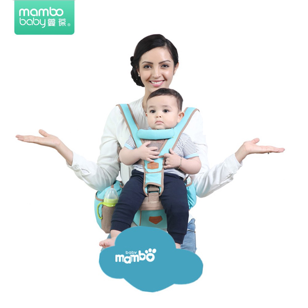 Mambo Baby Carrier Kangaroo Scan For Children Hipseat Front Carry Baby Sling For Newborn Hipsit Solid Color Baby Wrap Breathable