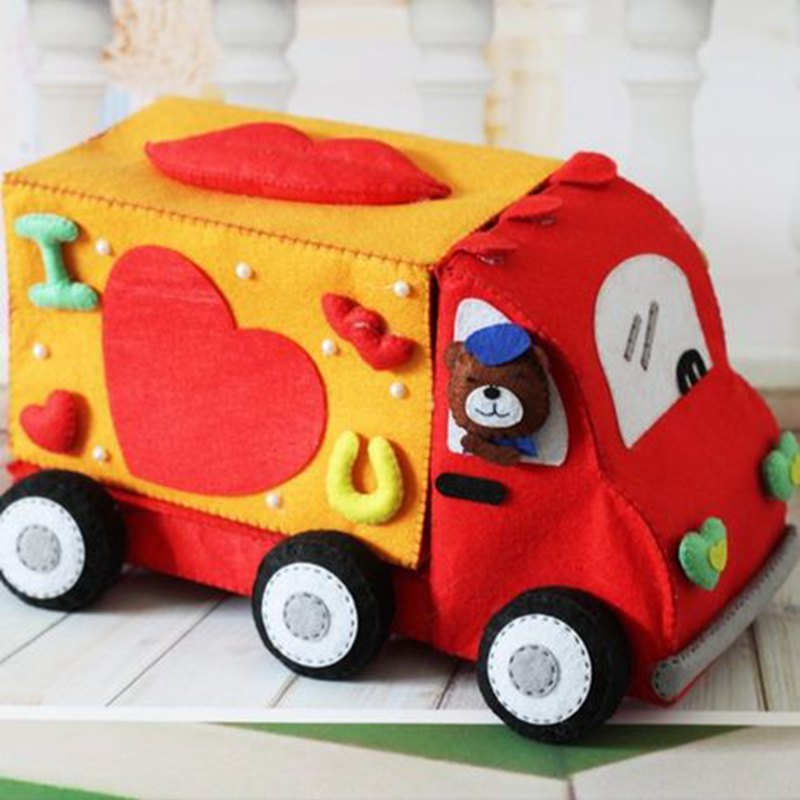 Storage Express Home: Lovely Cartoon Express Car Felt DIY Storage Box Creative