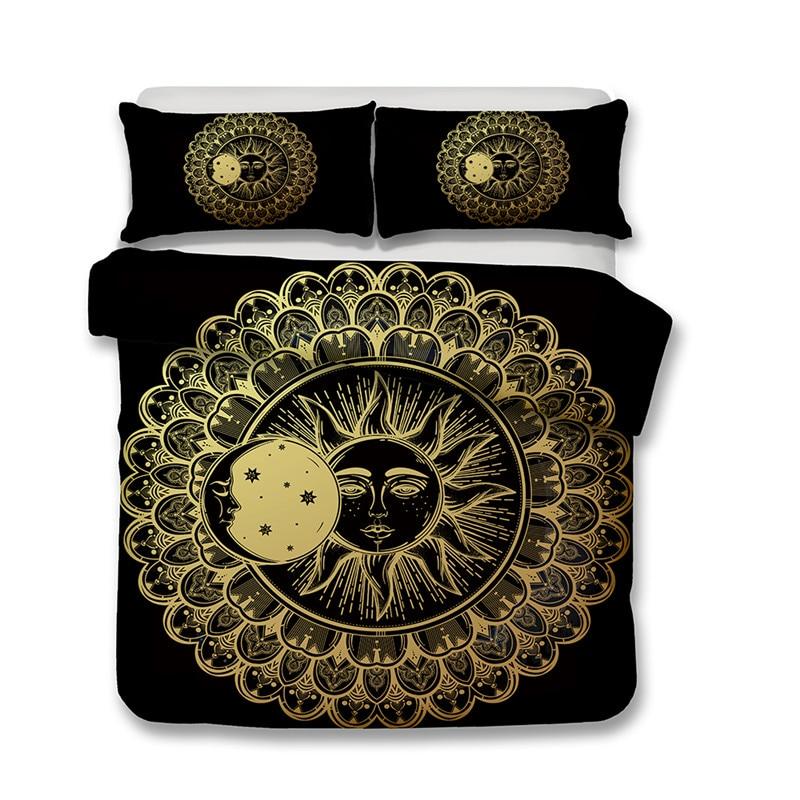 Fanaijia unicorno nero set di biancheria da letto queen size 3d stampato per bambini copripiumino Con Federe Letto per bambini bedline