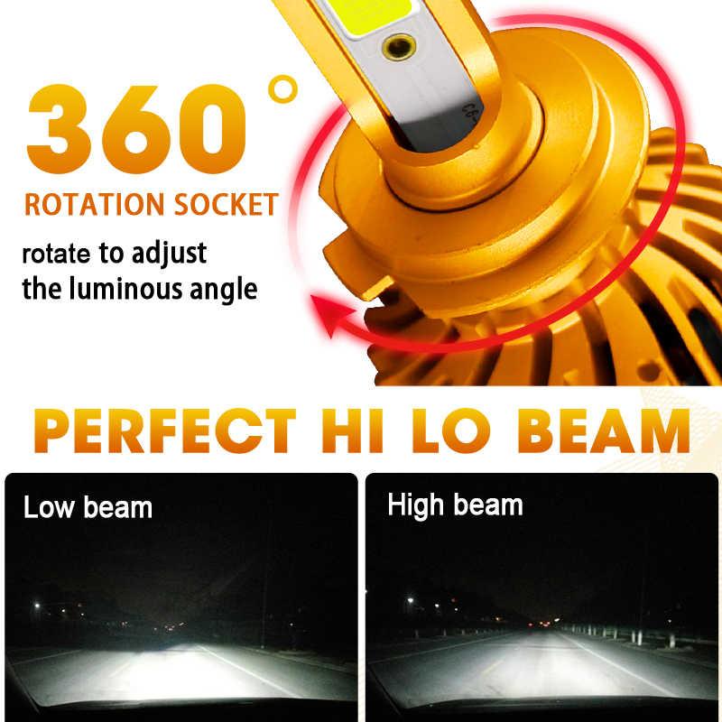 HLXG 2pcs H1 H3 H4 H11 H7 LED CANBUS bulbs 12000LM 80W Car headlight Kit 6000K 4300K White Auto LED 9005 9006 hb3 hb4  lamps