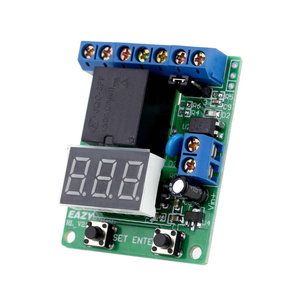 excellent relay module dc 12v relay switch control board module relay module voltage detection charging discharge  [ 1000 x 1000 Pixel ]
