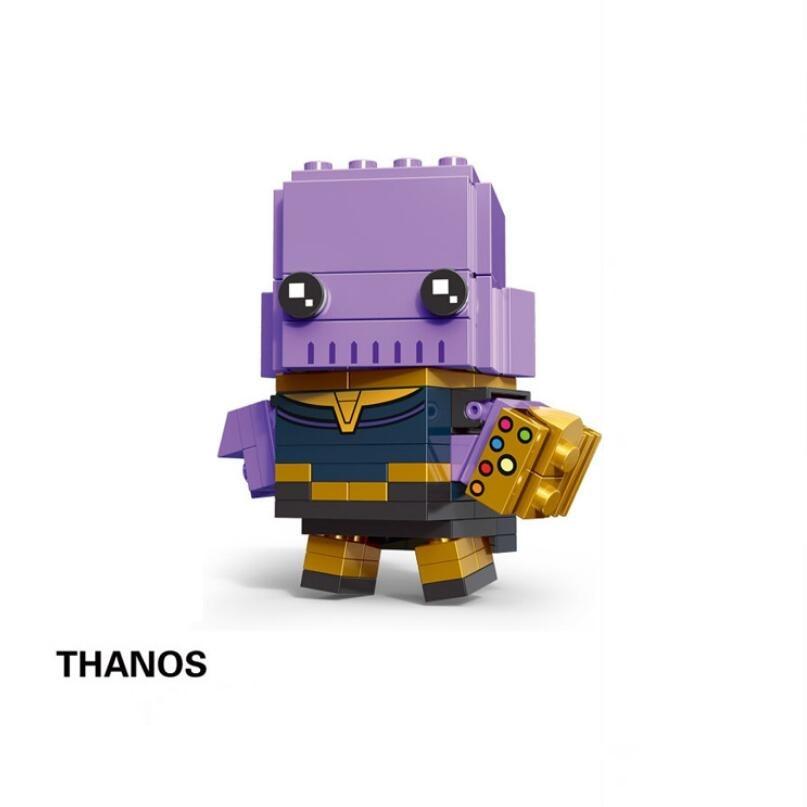 NEW brickheadz Legoinglys Christmas The Avengers Justice League Marvel Super Hero Hulk Thanos Building Block Bricks Toys 32