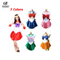 ROLECOS New Anime Pretty Soldier Sailor Moon Cosplay Costume female halloween party Any Size,Customized accepted