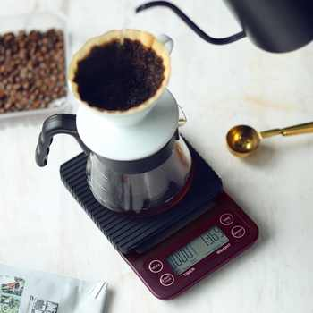 Portable 3kg/0.1g 5kg/0.5g Drip Coffee Scale With Timer Electronic Digital Kitchen Scale High Precision LCD Electronic Scales - DISCOUNT ITEM  28% OFF All Category