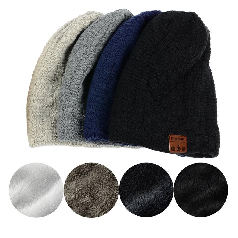Popular Fashion Bluetooth Music Hat Warm Soft Winter Sport Hat Wireless Bluetooth Headset Headphone Smart Cap with Speaker Mic wireless bluetooth music beanie cap stereo headset to answer the call of hat speaker mic knitted cap