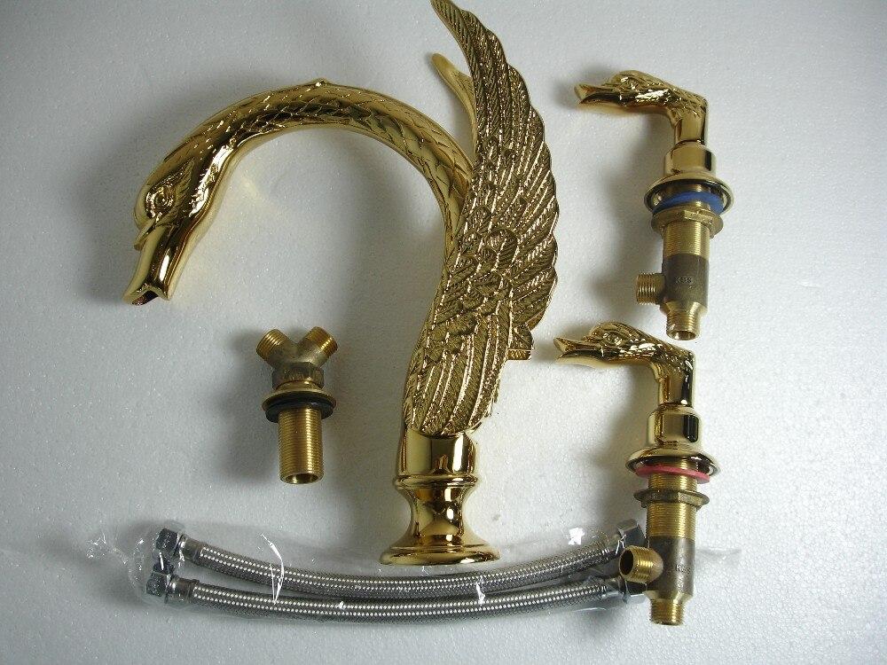 3 шт. римской ванной( или раковину) лебедь краны смесители для животных милый кран