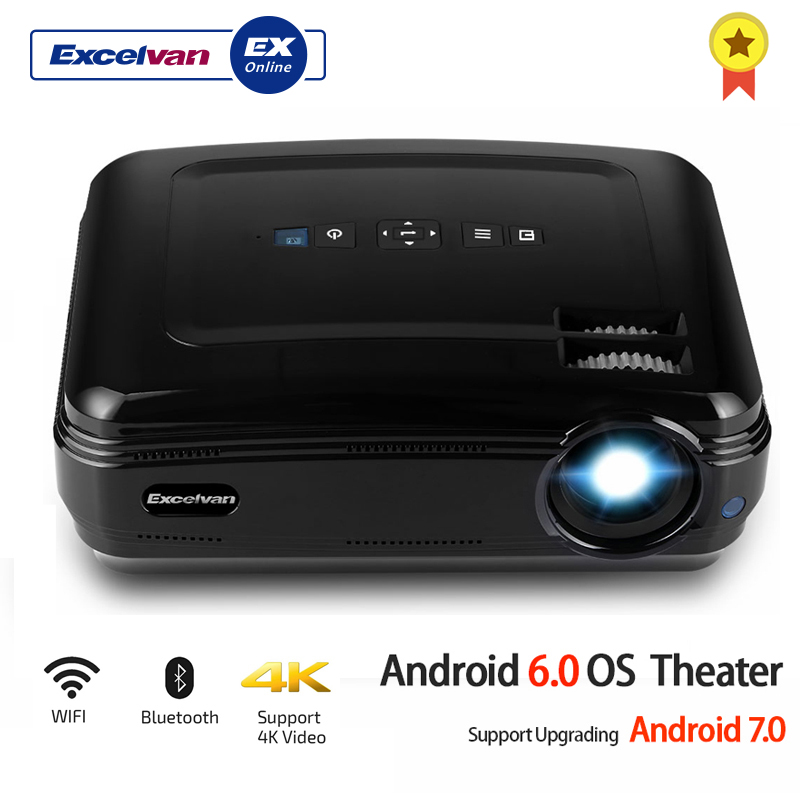 Excelvan BL59 LED Projector 3500Lumen Android 6 0 Beamer Built in WIFI BT Support 4K Video
