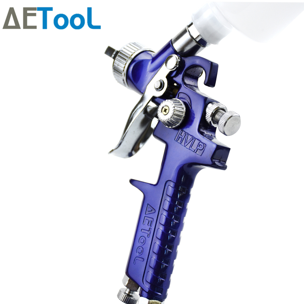 Image 2 - AETool 0.8/1.0mm Nozzle Professional HVLP Spray Guns Sprayer Paint Airbrush Mini Spray Gun for Painting Cars Aerograph Tool-in Spray Guns from Tools on