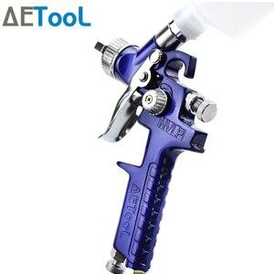 Image 2 - AETool 0.8/1.0mm Nozzle Professional HVLP Spray Guns Sprayer Paint Airbrush Mini Spray Gun for Painting Cars Aerograph Tool