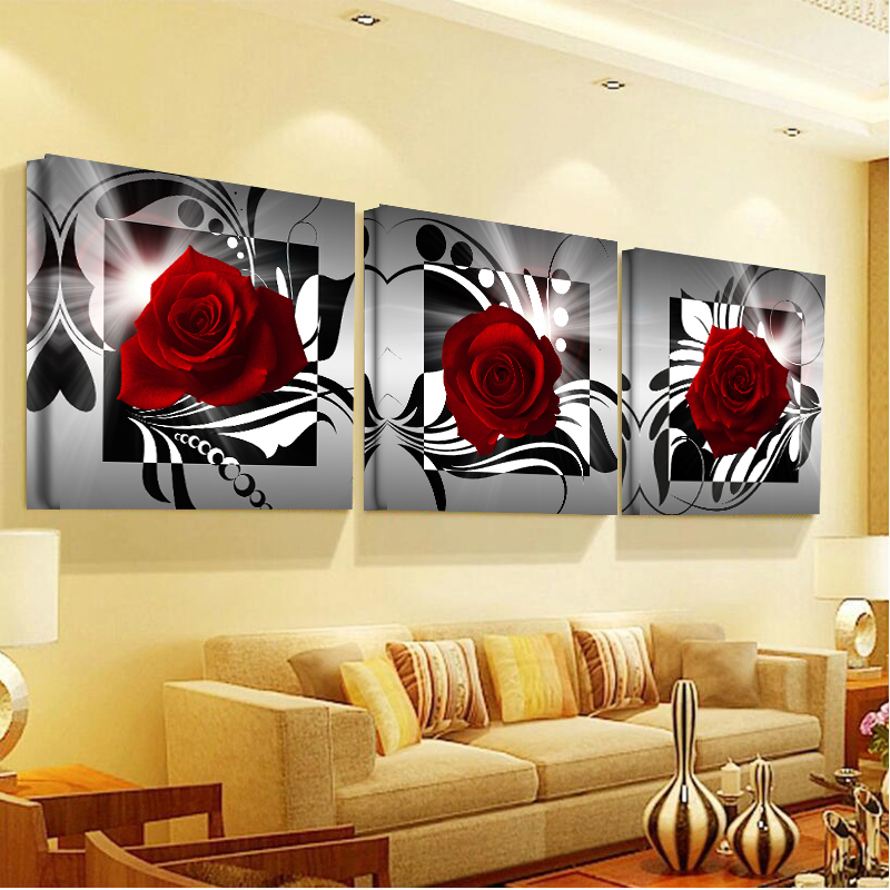 Aliexpress.com : Buy Modular Picture Canvas Painting Hot Rose Home ...