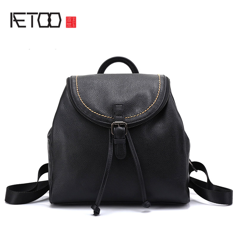 AETOO Leather shoulder bag women 2017 new trend ladies Europe and the United States fashion backpack first layer of leather hand lady morgana