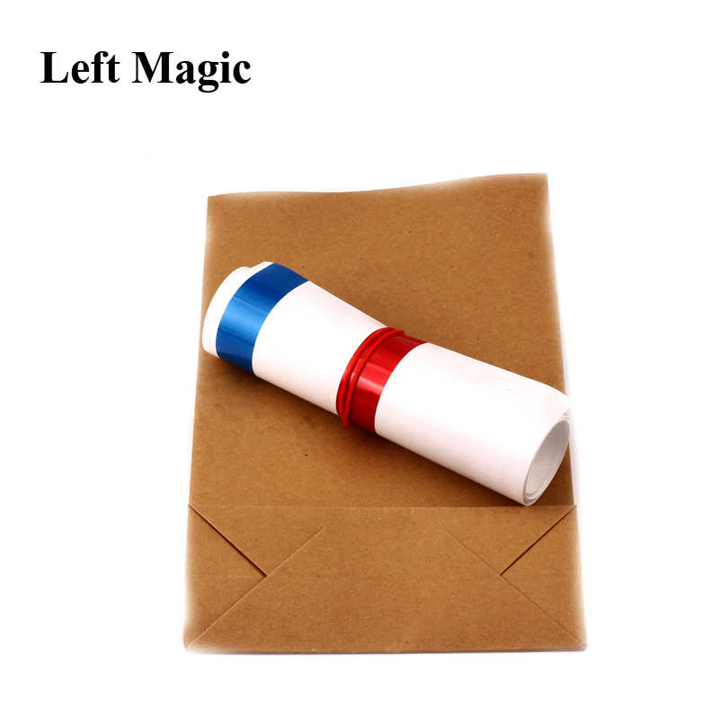 Appearing Big Straw From Empty Bag Close Up Stage Magic Props T.EA