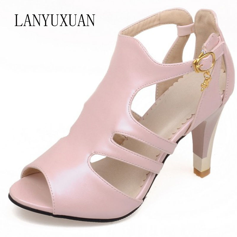 Gladiator Sandals Women Promotion Big Plus Size 34-52 Shoes Women Sandals 2017 Bottom High Heels Summer Chaussure Femme 9898 битоков арт блок z 551