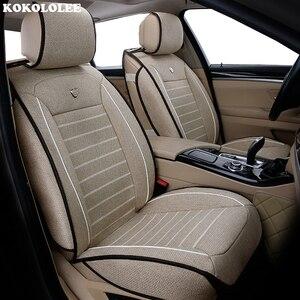 Image 2 - New Luxury flax Universal car seat cover for hyundai Elantra solaris tucson Zhiguli veloster getz creta i20 i30 ix35 i40 Car