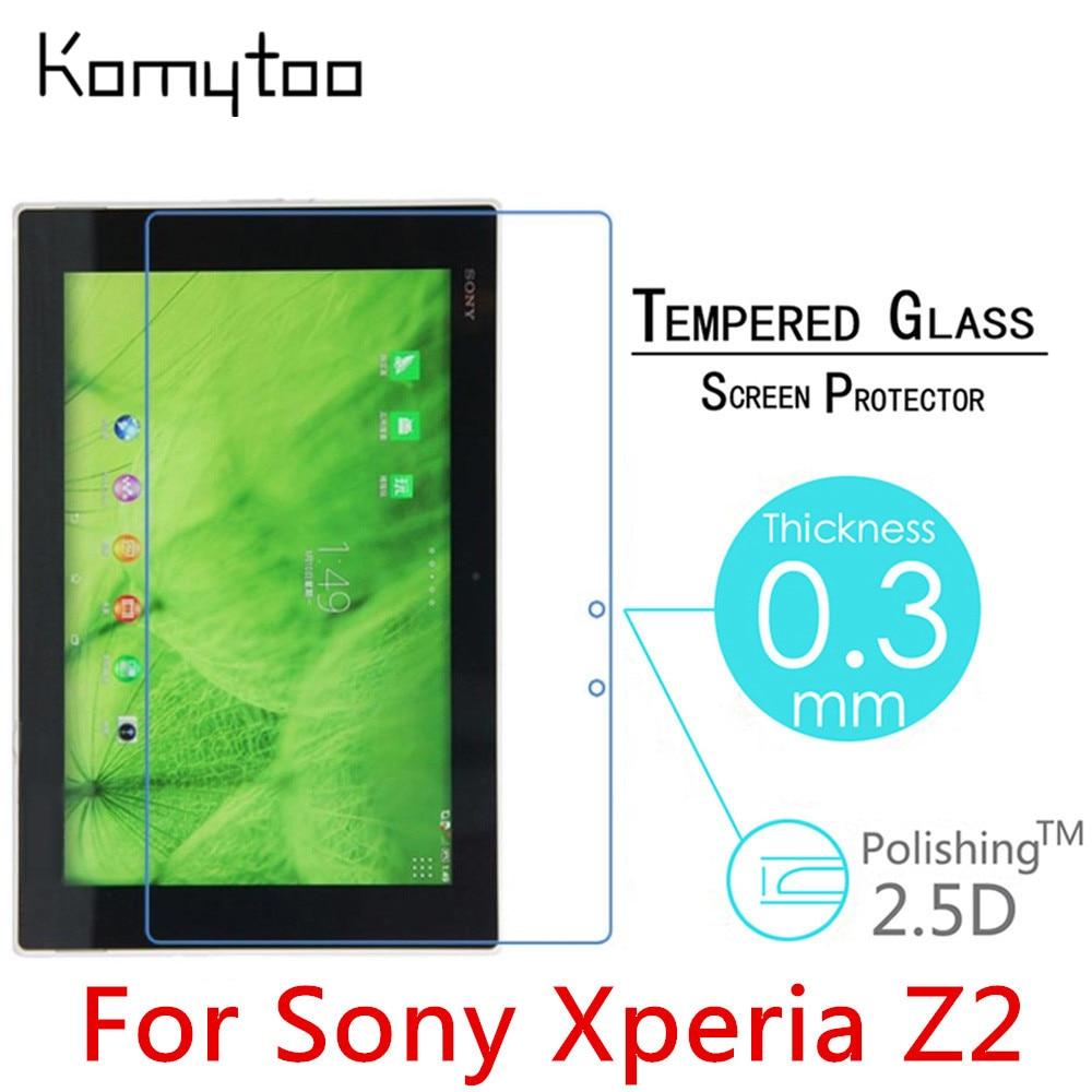 """imágenes para 5 unids Z2 9 H A Prueba de Explosiones Templado Vidrio Templado Para El Sony Xperia Z2 Tablet 10.1 """"Tablet PC Film Protector de Pantalla Transparente"""