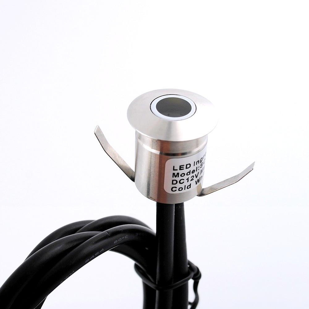 DC12V waterdichte led-vloerlamp verlichting voor buiten tuin roestvrij staal buiten armaturen verzonken laminaat vloerlamp