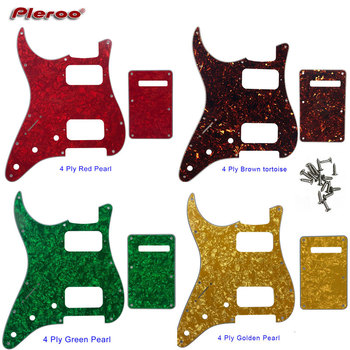Piezas de guitarra-para nosotros zurdos 11 agujero de tornillo estándar Strat ST HS Humbucker guitarra pickguard y placa trasera Placa de rasguño