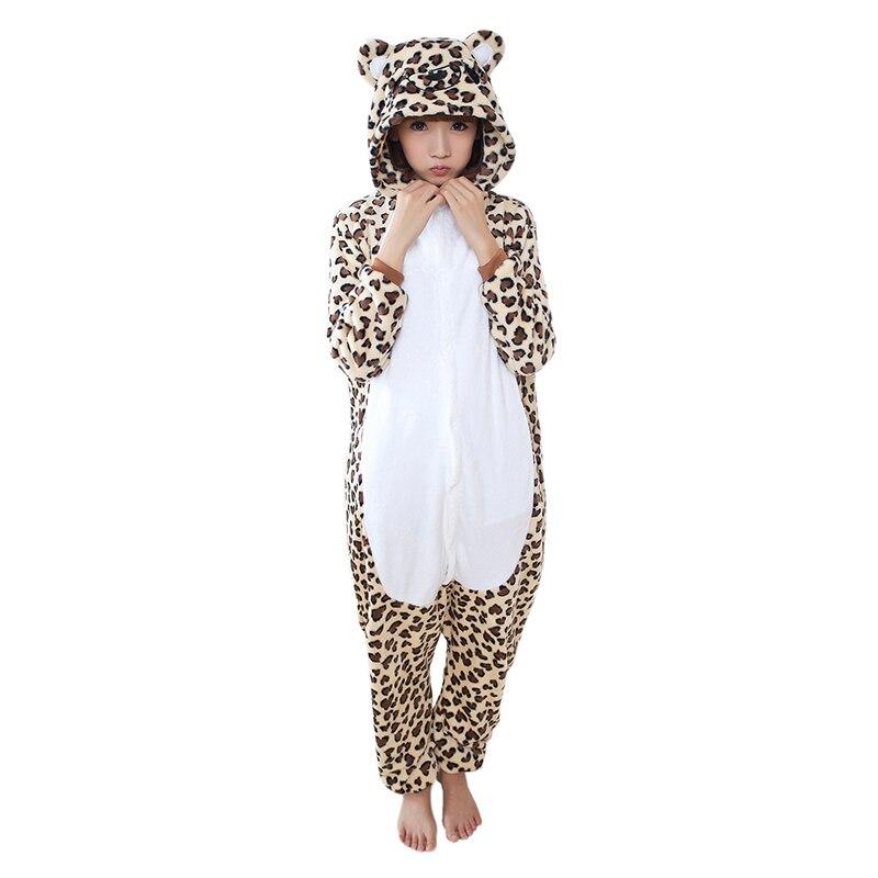 Unicorn Pajamas Set Cartoon Animal Leopard Costume Adult