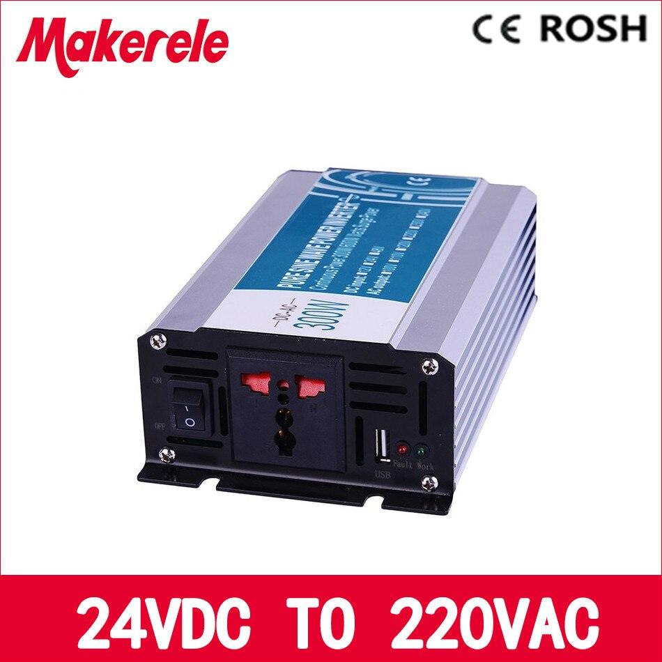 ФОТО off grid pure sine wave inverter 300w 24v to 220v power inverter voltage converter solar inverter MKP300-242