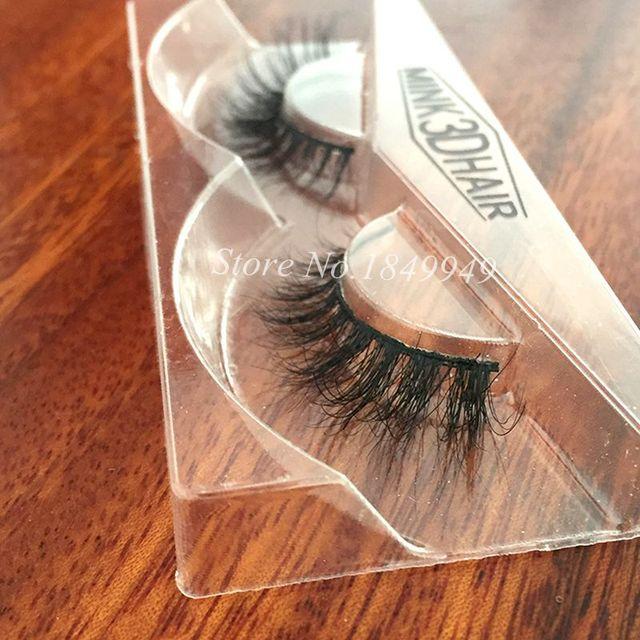 1 Box 1 Pair Packaging Mink 3D False Eyelashes Natural Crisscross Messy Luxury Vivid Fake Eyelashes 100% Handmade  Makeup Lashes 2