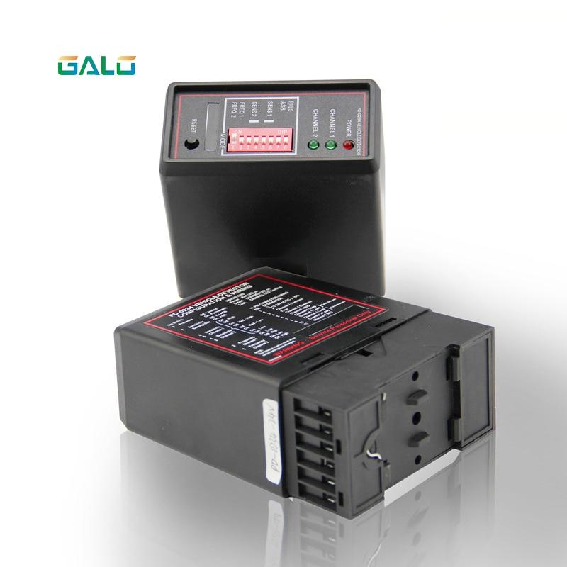 12/24/110v/220v 2 Channel Vehicle Loop Detector For Garage Door Opener / Dual Way Ground Sensor For Car Parking Management