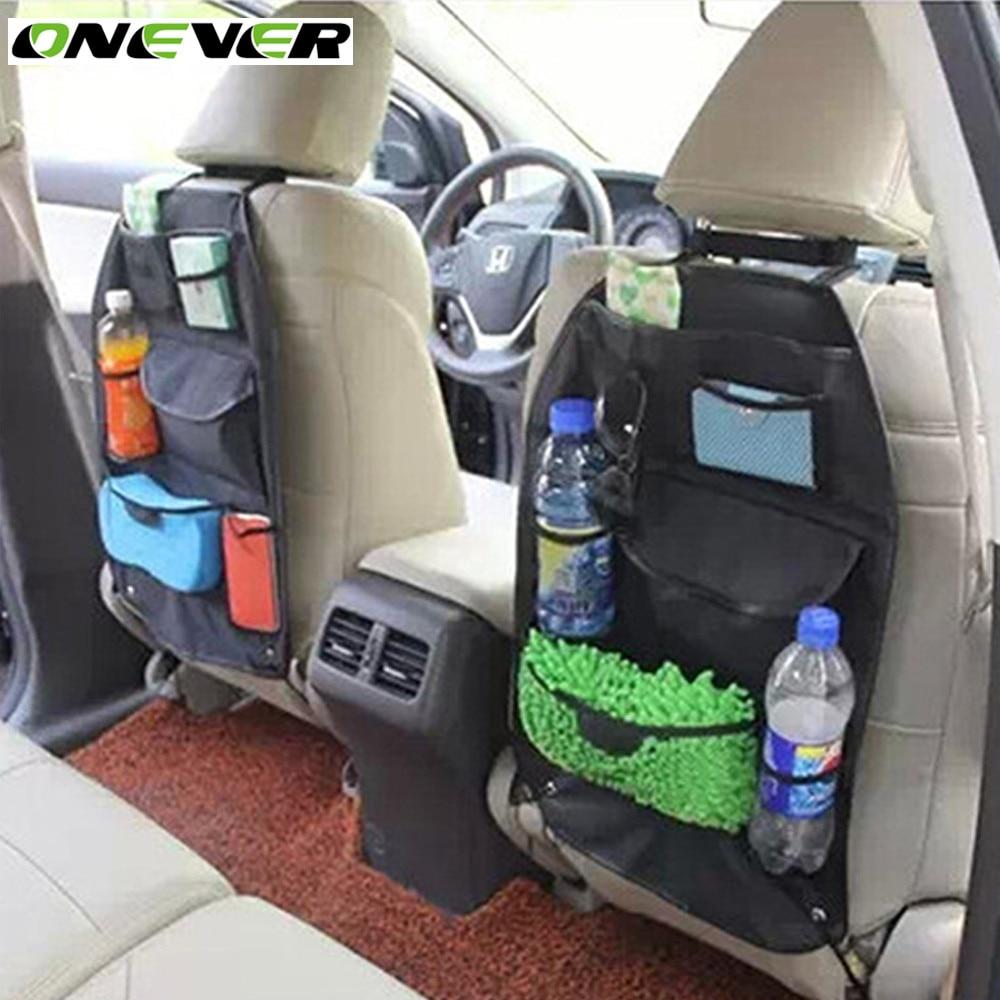 Car interior hanging - Onever Car Interior Accessories Seat Back Bag Storage Multi Holder Pockets Organizer Universal Aut Hanging Backseat