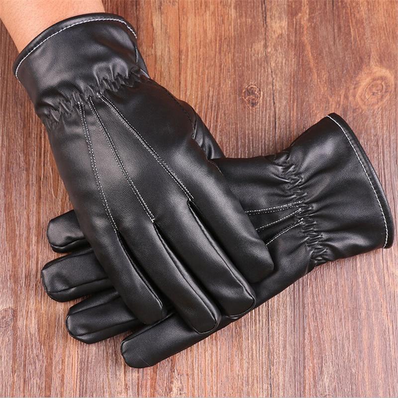 Bekleidung Zubehör Aufstrebend Mode Männer Pu Lederhandschuhe Herbst Winter Warme Handschuhe Touchscreen Handschuhe Fäustlinge Tragbare Handschuhe 3116 üBerlegene Materialien