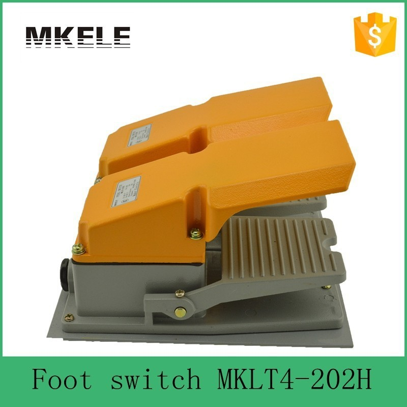 MKLT4-202H factory price cheap CE Newest latest metal  double pedal foot switch  for bending machine punch hot sale mklt4 202h factory price cheap ce newest latest metal double pedal foot switch for bending machine punch