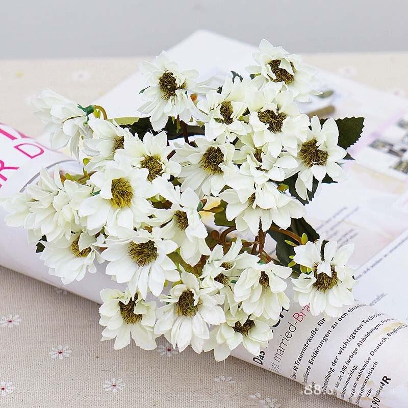 Künstliche Und Getrocknete Blumen 10 Köpfe Silk Künstliche Blumen Braut Holding Bouquet Hochzeit Blumen Dekoration Zubehör Bauernhaus Decor A6340 Festliche & Party Supplies