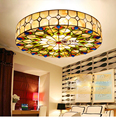 European Shell Lamp Mediterranean Style Garden Lamp 20 Inch Peacock Tail Ceiling Lamp
