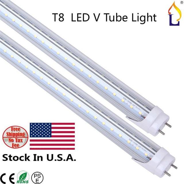 Usa Warehouse Stock Lamp T8 Led V Light 40 48 60w 4